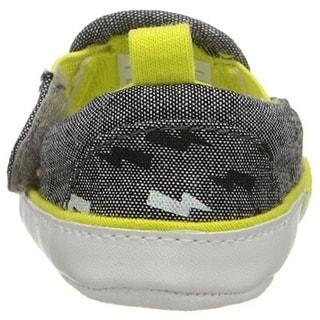 Rosie Pope Bolt of Sunshine Crib Shoes Infant Boys Heathered