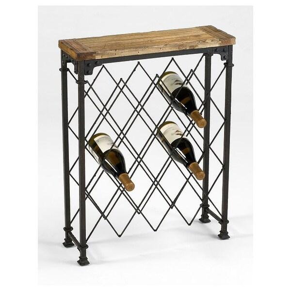 "Cyan Design 4542 28.75"" Hudson Wine Rack Wine Rack - Rustic - N/A"