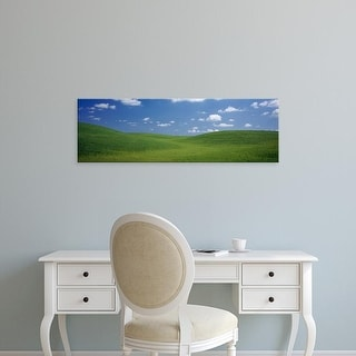 Easy Art Prints Panoramic Images's 'Clouds over hills, Yolo County, California, USA' Premium Canvas Art