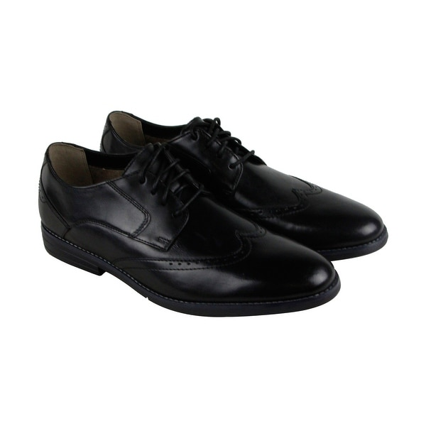 Bostonian Yorkton Wing Mens Black Leather Casual Dress Lace Up Oxfords Shoes