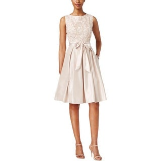 Jessica Howard Womens Semi-Formal Dress Mesh Embroidered