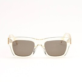 TranSparent Champagne Sunglasses With Grey Lens