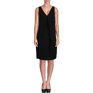 Lauren Ralph Lauren Womens Double-V Sleeveless Wear to Work Dress