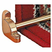 Carpet Rods for Stairs Bright Brass Plain Tubing Flat End Set Of 13