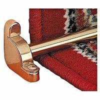 Bright Brass Carpet Rod Holder for Stair Runner 39 5/8 Inch Length Set of 13