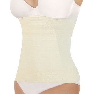 Unique Bargains Women's Underbust Belt Waist Girdle Body Control Shaper Cincher Corset Beige (Size S / 4)
