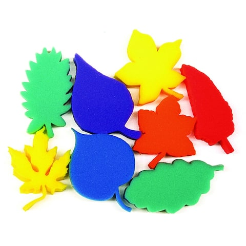 Creativity street (3 ea) leaf shape sponges asst of 8 ac9077bn