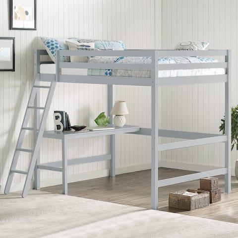 Caspian Full Loft Bed and Desk