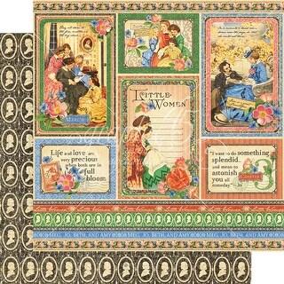 """Something Splendid - Little Women Double-Sided Cardstock 12""""X12"""" (25/Pack)"""