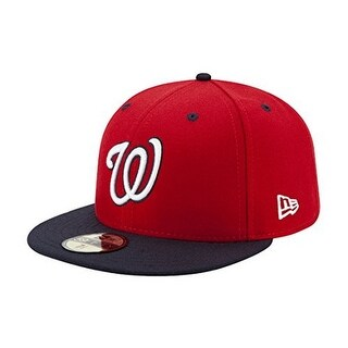 New Era Unisex Washington Nationals Alt2 59Fifty Fitted Cap, Red/Black, 7 - Red/black