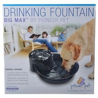 Pioneer Big Max Ceramic Drinking Fountain - Black 128 oz