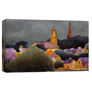 """PTM Images 9-101779  PTM Canvas Collection 8"""" x 10"""" - """"Little Town 1"""" Giclee Forests Art Print on Canvas"""