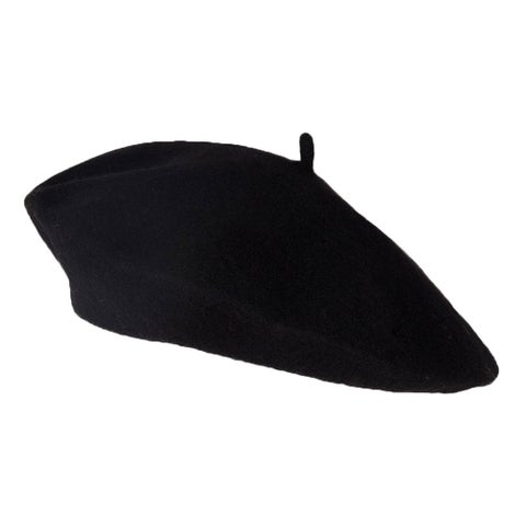 Wool Blend Fashion French Beret, Black
