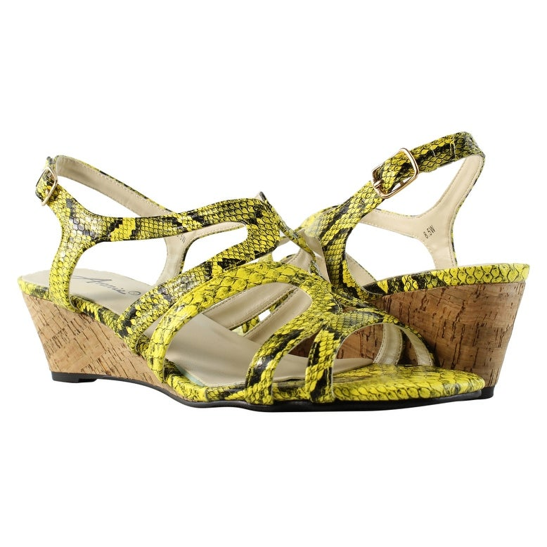 399d710a382c34 Shop Annie Shoes Womens Xf310-C5-W Yellow Sandals Size 8.5 (C