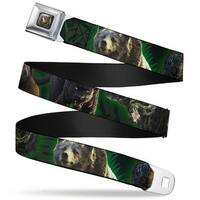 Baloo Bear Face Close Up Full Color Black The Jungle Book 5 Animal Poses Seatbelt Belt