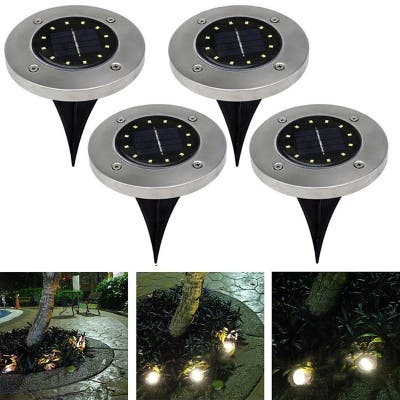 Led Solar Power Buried Light ground Lamp Outdoor Path Way Garden Decking Waterproof Landscape