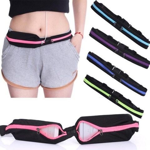 Dual Pocket Running Belt Travel Pack for Jogging, Cycling and Outdoors