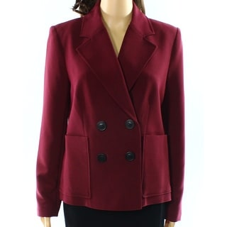 Alfani NEW Marooned Red Womens Size 14 Two-Pocket Button-Details Blazer