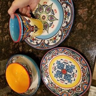 Euro Ceramica Zanzibar 20 Piece Stoneware Dinnerware Set (Service for 4)