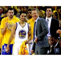 8 x 10 in. Steve Kerr Signed Golden State Warriors Standing with