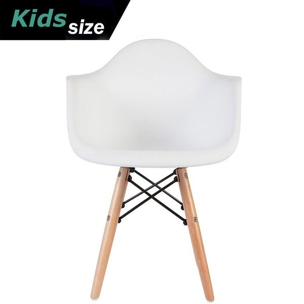 2xhome Modern Kids Chair Armchair With Arms Natural Wood Legs Dowel Eiffel Kitchen Bedroom Desk Toddler Montessori School