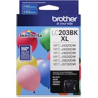Brother LC203BK Brother LC203BK Ink Cartridge - Black - Inkjet - High Yield - 550 Page - 1 Pack