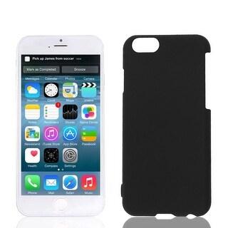 Hard Plastic Back Skin Shell Case Cover Black for Apple iPhone 6 6G 6G