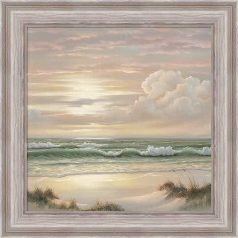 Georgia Janisse 'Coastal Dusk II' Framed Art