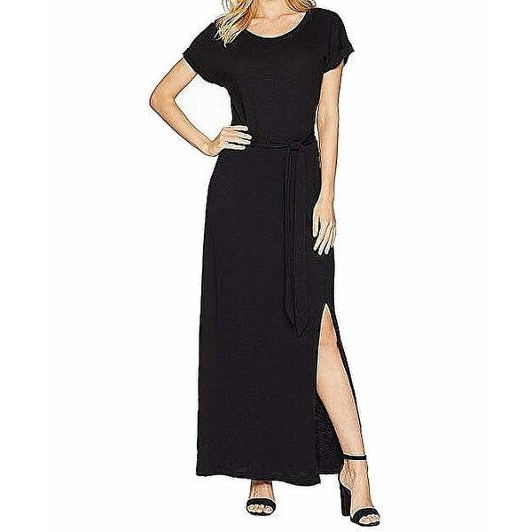 152b612a37b73 Sanctuary Women's Dress Black Size Medium M T-Shirt Side Split Maxi