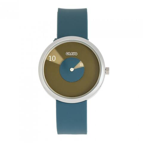 Crayo Pinwheel Silicone Strap Watch - Cerulean