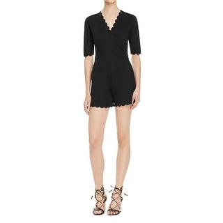 French Connection Womens Romper Pull On Scallop