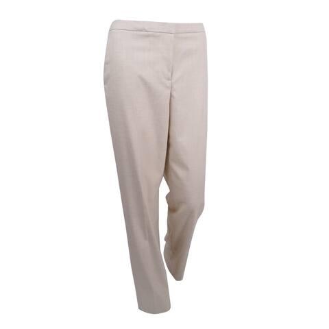 Tommy Hilfiger Women's Crosshatch Trousers (4, Tan) - Tan - 4