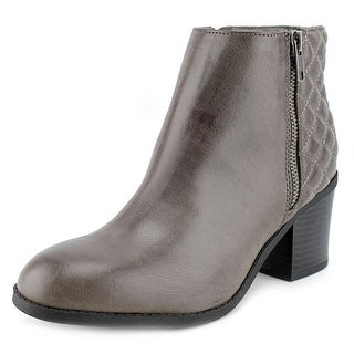 Mia Knoxx Women Round Toe Synthetic Gray Ankle Boot
