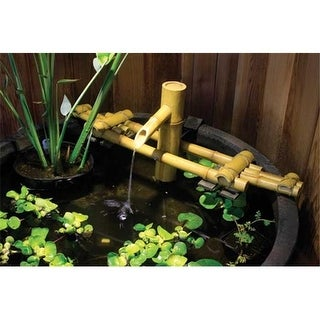 Aquascape 78014 Adjustable Pouring Bamboo Fountain with pump