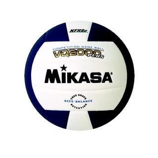 Mikasa VQ 2000 NFHS Volleyball, Navy Blue/White