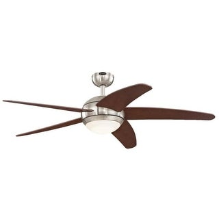 Westinghouse 7206500 Bendan LED Single Light 5 Blade Integrated LED Hanging Ceiling Fan with Light Kit, Blades, Remote Control