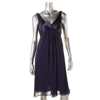 Jones New York Womens Petites Chiffon Sleeveless Cocktail Dress - 2p
