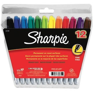 Sharpie Fine Point Permanent Markers 12/Pkg-Assorted Colors