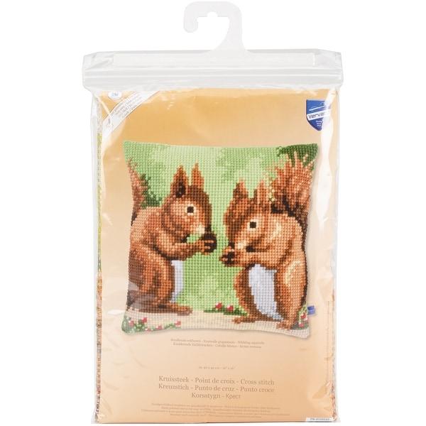 "Nibbling Squirrels Cushion Cross Stitch Kit-16""X16"""