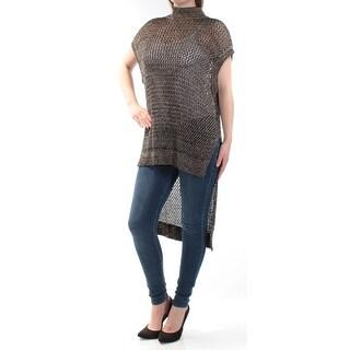FREE PEOPLE $148 Womens New 1677 Black Turtle Neck Short Sleeve Casual Top M B+B