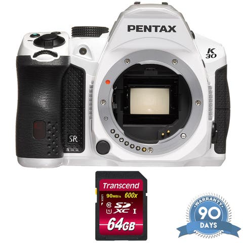 Pentax K-30 DSLR Camera (Body Only) (Crystal White) - w/ Memory Card