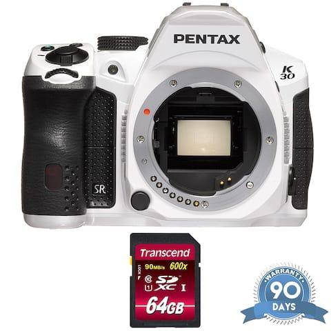 Pentax K-30 DSLR Camera (Body Only) (Crystal White) - w/ Memory Card -