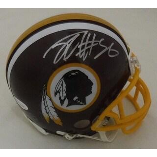 Jordan Reed Autographed Washington Redskins Riddell Mini Helmet JSA