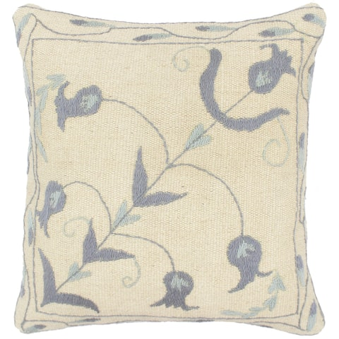Rustic Levy Kilim Suzani Handmade Pillow