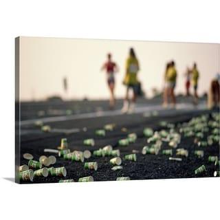 """the Ironman Triathlon"" Canvas Wall Art"