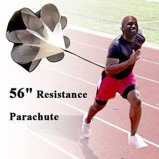 """Image 56"""" Running Resistance Parachute Speed Training Chute Power for up to 42"""" waist"""