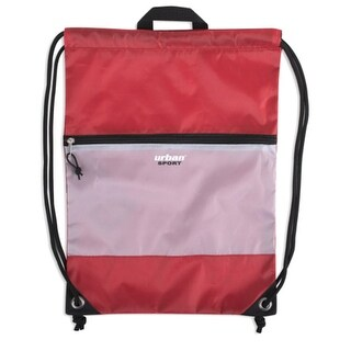 """Urban Sport Unisex Red Front Zip Pocket Drawstring Backpack 18""""x 13"""" - One size"""