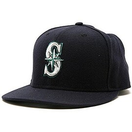 New Era Seattle Mariners Fitted Wool Hat - Navy Blue