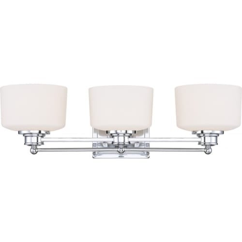 Nuvo Lighting 60/4583 Soho Three Light Bathroom Fixture with Satin White Glass