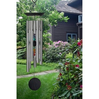 Woodstock Chakra Windchime with 7 Stones - 24.5-Inch